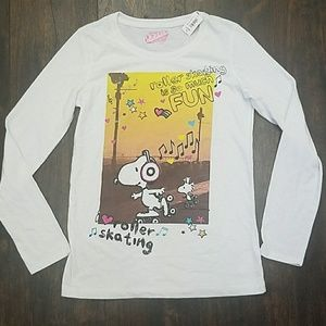 OLD NAVY peanuts SNOOPY + WOODSTOCK glitter tee XL